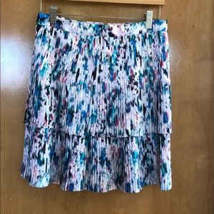 J crew abstract pleated skirt